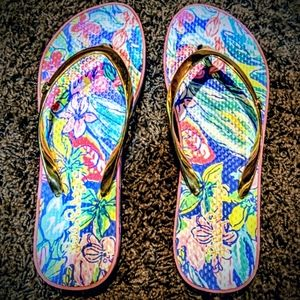 PRE LOVED LILLY PULITZER FLIP FLOPS SIZE 5/6